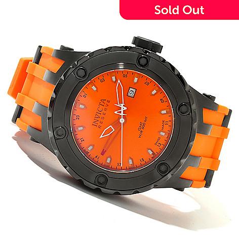 619-974 - Invicta Reserve Men's Specialty Subaqua Swiss Quartz GMT Stainless Steel Polyurethane Strap Watch