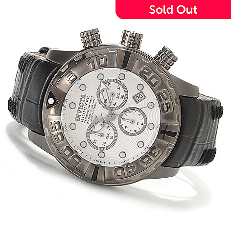620-002 - Invicta Reserve 47mm Subaqua Noma I Limited Edition Swiss Chronograph Leather Strap Watch