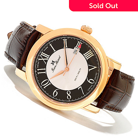 620-017 - Jean Marcel Men's Clarus Limited Edition Swiss Made Automatic Leather Strap Watch