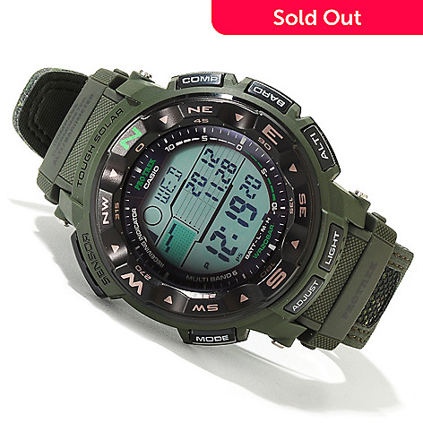 620-048 - Casio 54mm Pro-Trek Solar Power Digital Alarm Strap Watch
