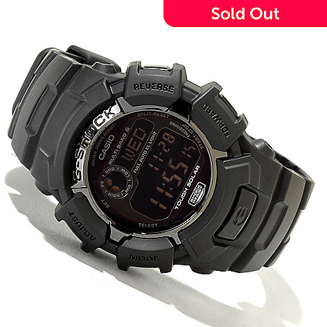 620-050 - Casio Men's G-Shock Black Out Digital Alarm Rubber Strap Watch