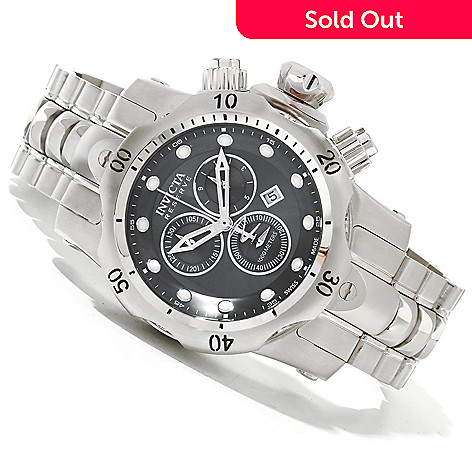 620-054 - Invicta Reserve Mid-Size Venom Swiss Quartz Chronograph Stainless Steel Bracelet Watch