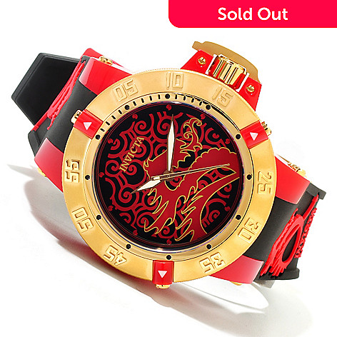 620-060 - Invicta Men's Subaqua Noma III Artist Dragon Quartz Silicone Strap Watch
