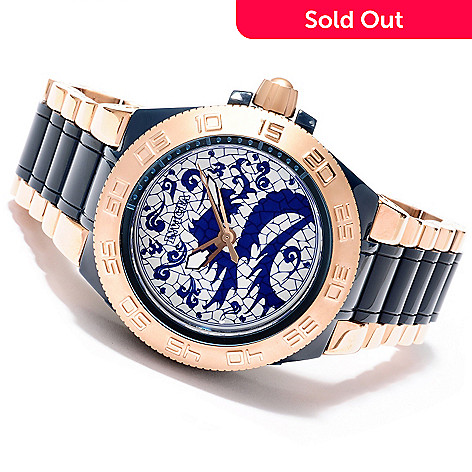 620-070 - Invicta Men's Subaqua Noma III Artist Dragon Quartz Stainless Steel Bracelet Watch