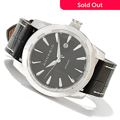 620-079 - Android Men's Caprice 9015 Automatic Leather Strap Watch