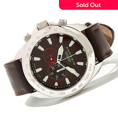 620-082 - Android Men's Velocity Quartz Chronograph Leather Strap Watch