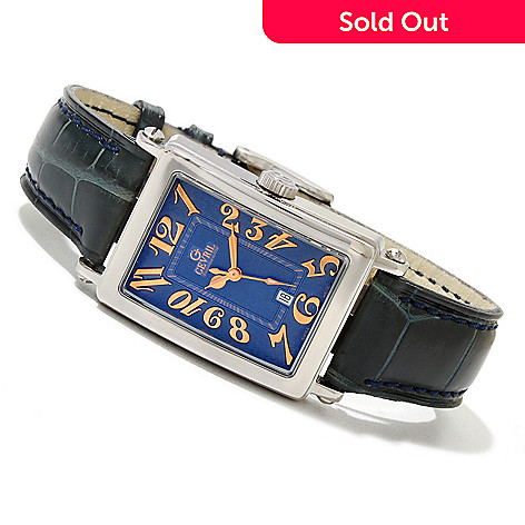 620-086 - Gevril Women's Avenue of Americas Mini Limited Edition Swiss Made Quartz Leather Strap Watch
