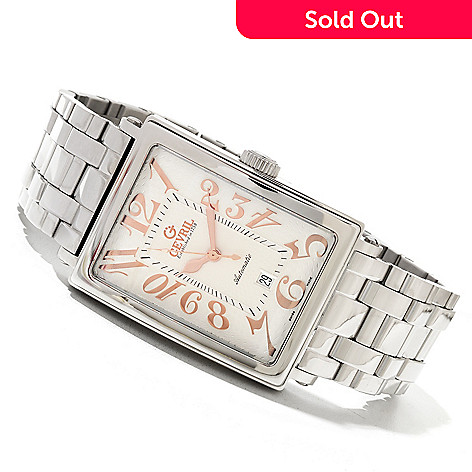 620-092 - Gevril Men's Avenue of Americas Limited Edition Swiss Made Automatic Bracelet  Watch