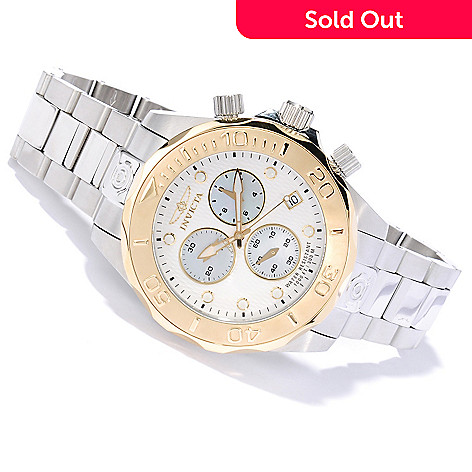 620-121 - Invicta 46mm Grand Diver Swiss Made Quartz Chronograph Stainless Steel Bracelet Watch