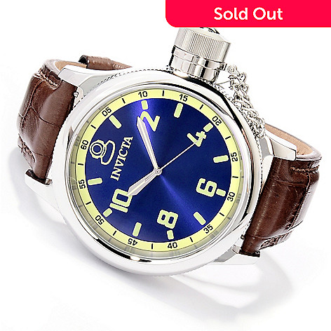 620-135 - Invicta Men's Russian Diver Stainless Steel Alligator Strap Watch