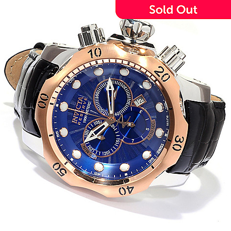 620-136 - Invicta Reserve Men's Venom Swiss Made Quartz Chronograph Stainless Steel Strap Watch