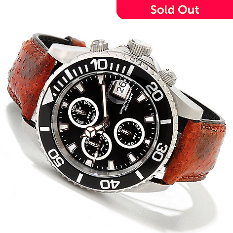 620-137 - Invicta Mid-Size Pro Diver Quartz Chronograph Stainless Steel Wolffish Strap Watch