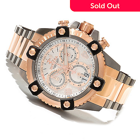 620-148 - Invicta Reserve 48mm Swiss Made Quartz Chronograph Stainless Steel Bracelet Watch