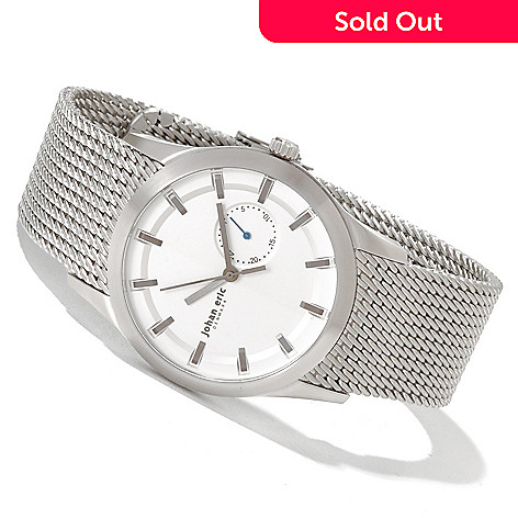 620-149 - Johan Eric Men's Agerso Quartz Stainless Steel Mesh Bracelet Watch