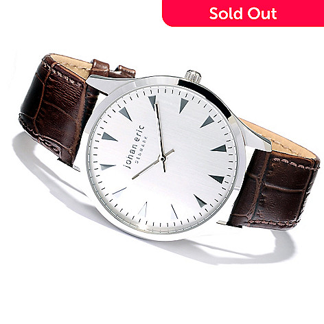 620-166 - Johan Eric Men's Helsingor Quartz Leather Strap Watch