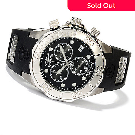 620-256 - Invicta Men's Grand Diver Swiss Quartz Chronograph Stainless Steel Polyurethane Strap Watch