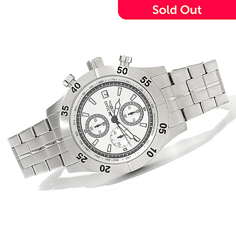 620-260 - Invicta 45mm Specialty Quartz Chronograph Bracelet Watch w/ 8-Slot Dive Case