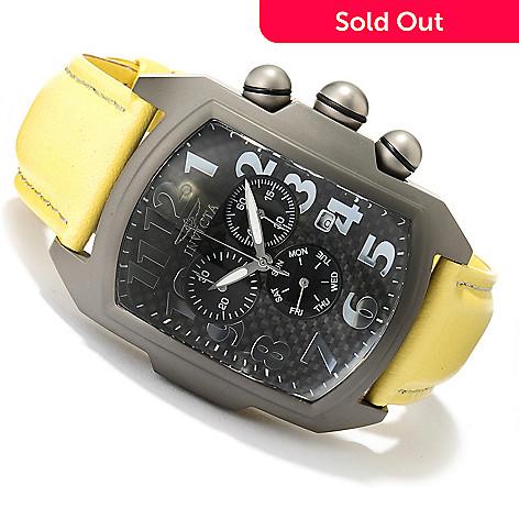 620-261 - Invicta Men's Lupah Quartz Chronograph Titanium Leather Strap Watch