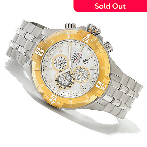 620-273 - Invicta 50mm Pro Diver XXL Quartz Chronograph Stainless Steel Bracelet Watch