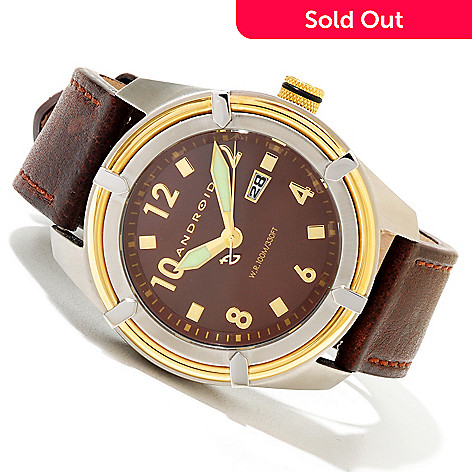 620-281 - Android Men's Naval Quartz Leather Strap Watch