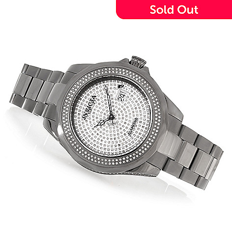 620-289 - Invicta Men's Pro Diver 2.61ctw Diamond Accented Swiss Automatic Stainless Steel Bracelet Watch