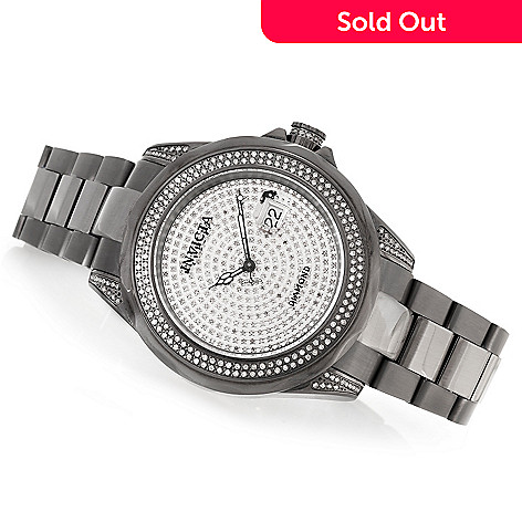 620-290 - Invicta 47mm Pro Diver 1.99ctw Diamond Pave Accented Swiss Automatic Stainless Steel Bracelet Watch