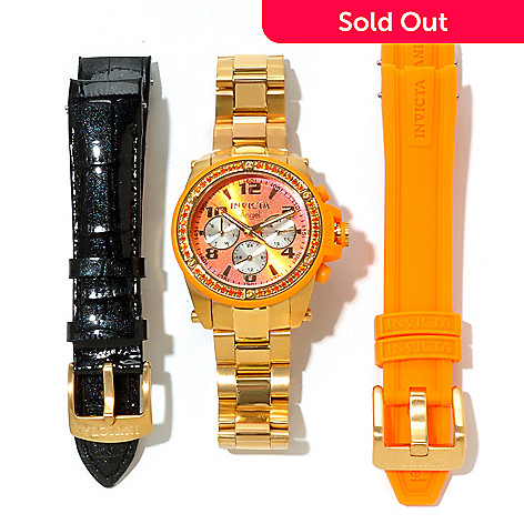 620-311 - Invicta Women's Angel Quartz Stainless Steel Bracelet Watch w/ Two Extra Straps