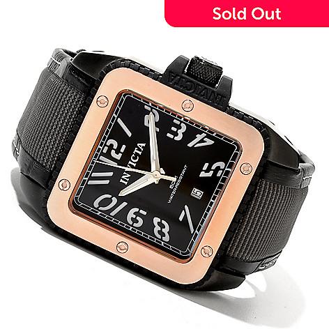 620-315 - Invicta Men's Cuadro Elite Quartz Stainless Steel Leather Strap Watch