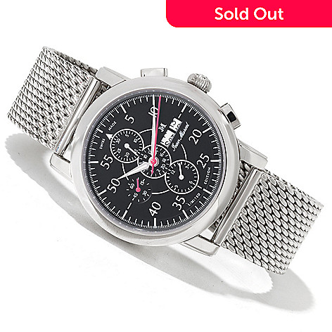620-316 - Jean Marcel Men's Clarus Limited Edition Swiss Made Automatic Chronograph Bracelet  Watch