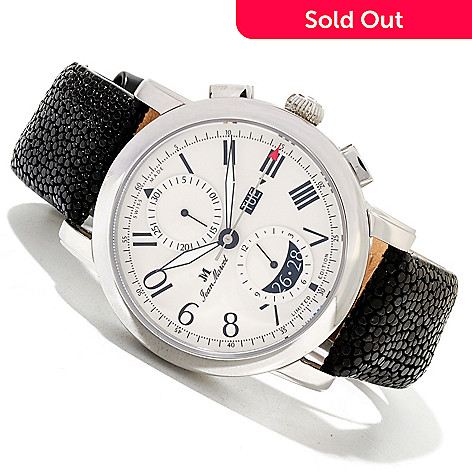620-318 - Jean Marcel Men's Clarus Limited Edition Swiss Made Automatic Chronograph Stingray Strap Watch
