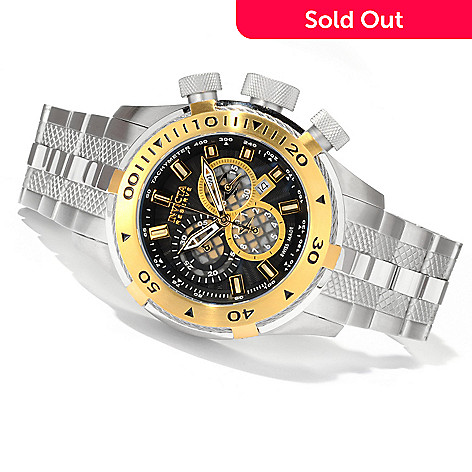 620-323 - Invicta Reserve Men's Bolt Swiss Made Quartz Chronograph Stainless Steel Bracelet Watch