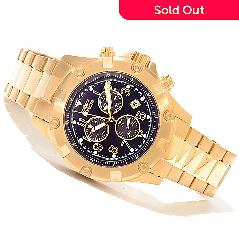 620-331 - Invicta 45mm Specialty Quartz Chronograph Stainless Steel Bracelet Watch w/ 3-Slot Collector's Box