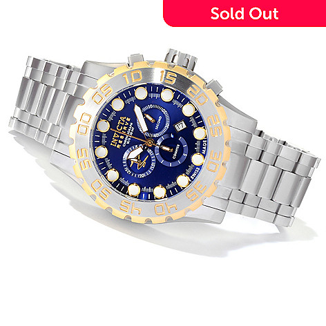 620-332 - Invicta Reserve Men's Leviathan Swiss Made Quartz Chronograph Stainless Steel Bracelet Watch