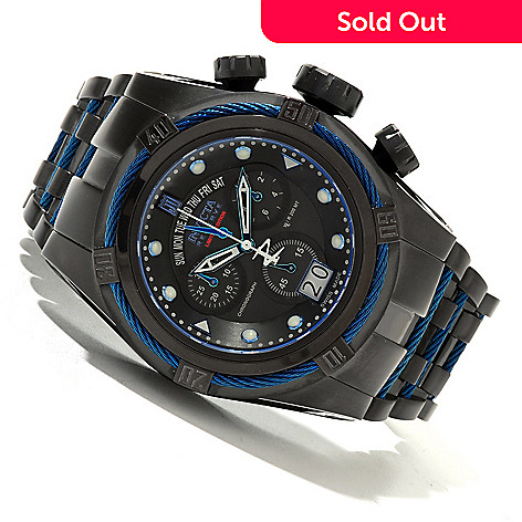 620-339 - Invicta Reserve 52mm Jason Taylor Bolt Zeus Limited Edition Swiss Made Watch w/ 3-Slot Dive Case