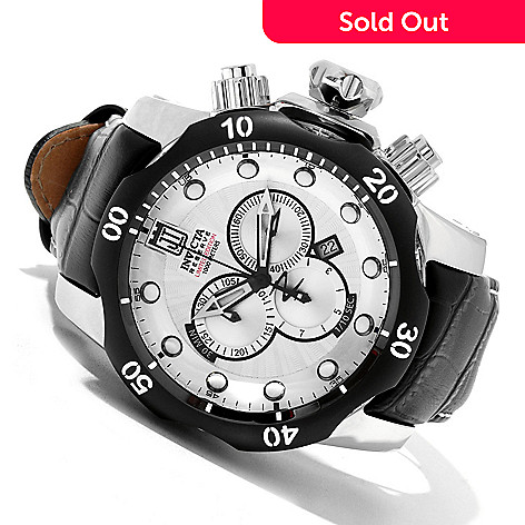620-345 - Invicta Reserve 52mm Jason Taylor Venom Limited Edition Swiss Made Strap Watch w/ 3-Slot Dive Case