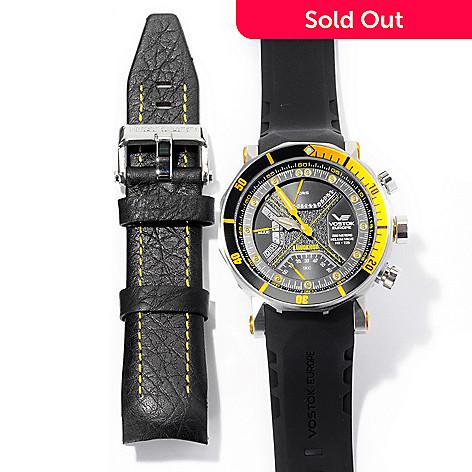 620-352 - Vostok-Europe Men's Lunokhod II Limited Edition Swiss Made Quartz Chronograph Rubber Strap Watch