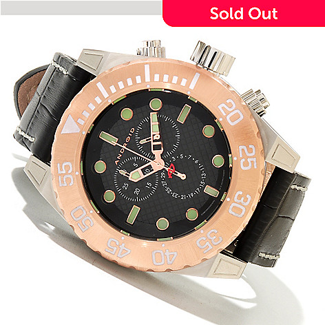 620-360 - Android Men's Silverjet Chrono 3 Quartz Chronograph Leather Strap Watch