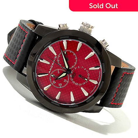 620-363 - Android Men's Caprice Quartz Chronograph Leather Strap Watch