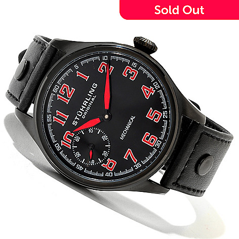 620-375 - Stührling Original Men's Legacy Sport Mechanical Leather Strap Watch