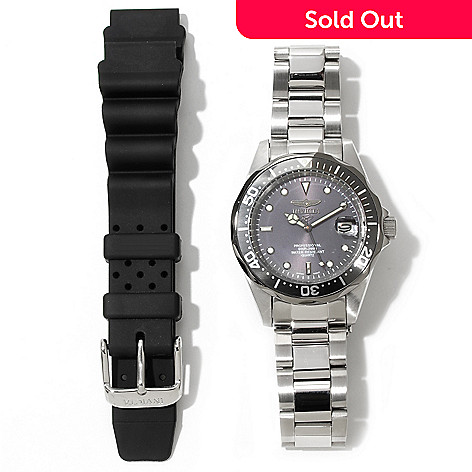 620-400 - Invicta Women's Pro Diver Quartz Stainless Steel Bracelet Watch w/ Extra Strap