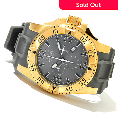 620-413 - Invicta Men's Excursion Quartz Chronograph Stainless Steel Polyurethane Strap Watch
