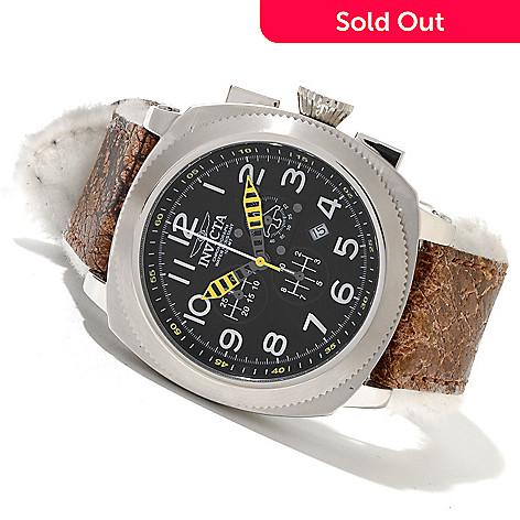 620-422 - Invicta 50mm Aviation Polar Edition Quartz Chronograph Leather Strap Watch