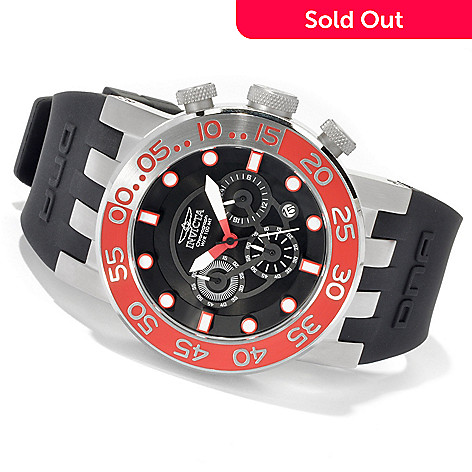 620-424 - Invicta Men's DNA Diver Quartz Chronograph Stainless Steel Strap Watch w/ 3-Slot Dive Case