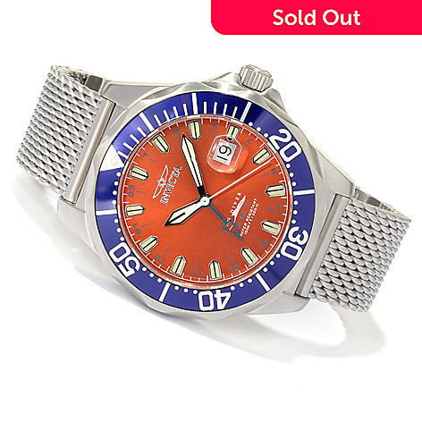 620-464 - Invicta Men's Pro Diver Swiss Made Quartz GMT Stainless Steel Bracelet Watch