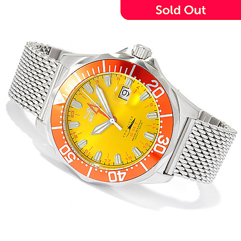 620-465 - Invicta Men's Pro Diver Swiss Made Quartz GMT Stainless Steel Bracelet Watch