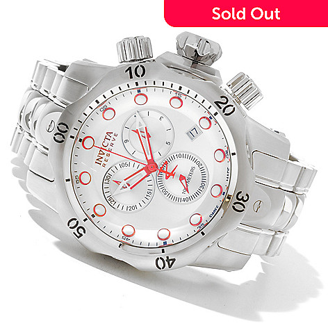 620-472 - Invicta Reserve Men's Venom Swiss Made Quartz Chronograph Stainless Steel Bracelet Watch