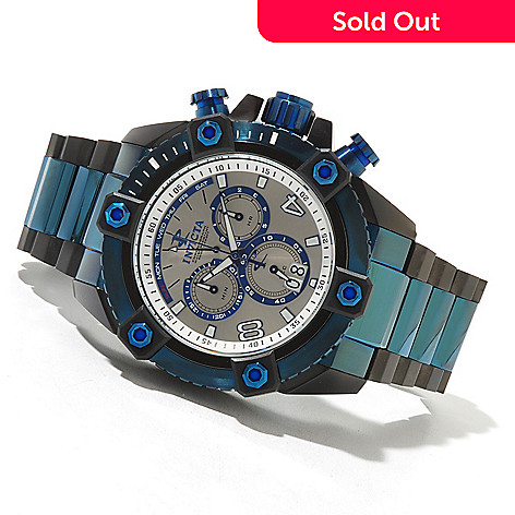 620-493 - Invicta Reserve 63mm Grand Octane Swiss Chronograph Bracelet Watch w/ Eight-Slot Dive Case