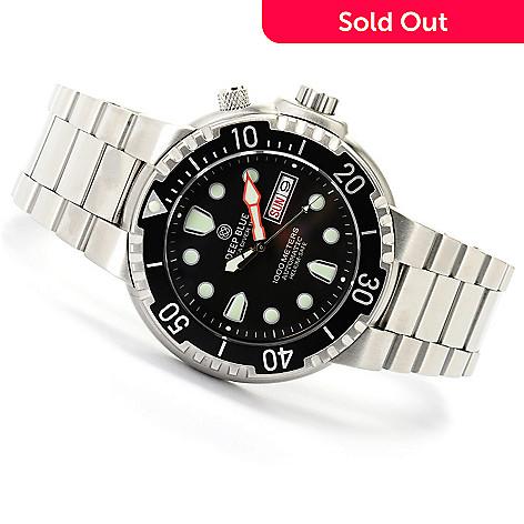 620-655 - Deep Blue Men's Sea Diver 1000 Automatic Stainless Steel Bracelet Watch
