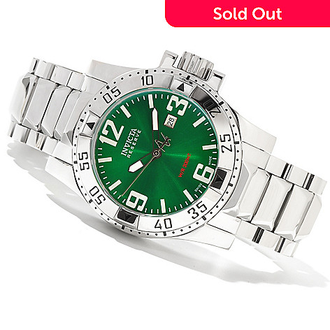 620-659 - Invicta Reserve Men's Excursion Swiss Made Quartz High Polish Stainless Steel Bracelet Watch