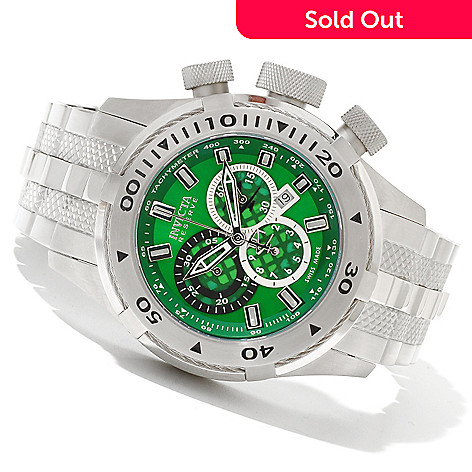 620-660 - Invicta Reserve Men's Bolt II Swiss Made Quartz Chronograph Stainless Steel Bracelet Watch